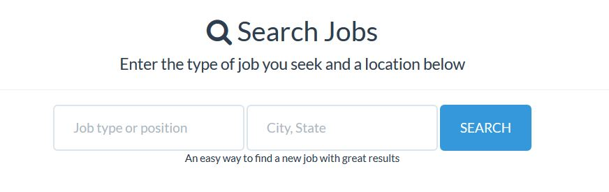 a job search engine form
