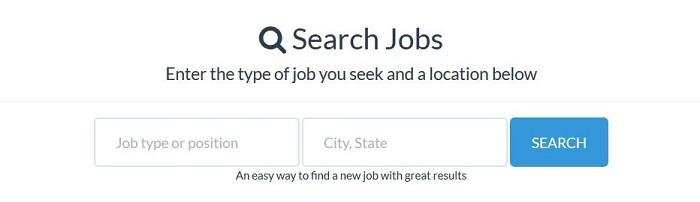 job search engine data form